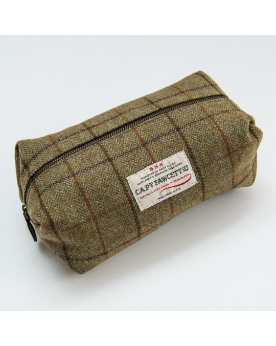 CAPTAIN FAWCETT –TWEED WASH BAG